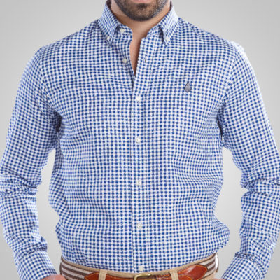 Camisa Cuadro Marino