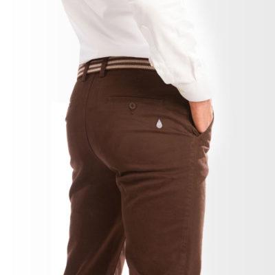 Pantalón Chino Hombre Marrón Chocolate