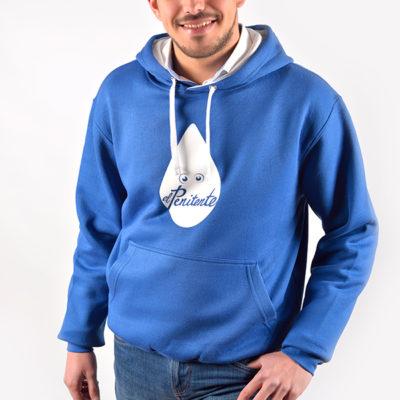 Sudadera Azul capucha