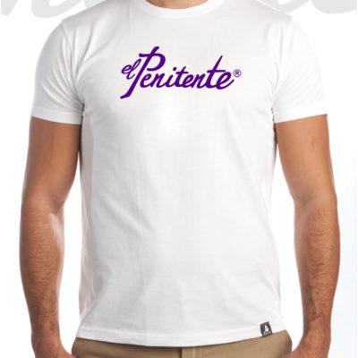 Camiseta Hombre Letras moradas «El Penitente»